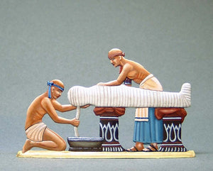 Two Priests Bandaging Mummy - Glorious Empires-Historical Miniatures