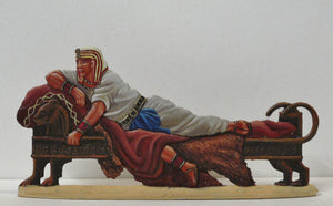 Pharoah on his settee - Glorious Empires-Historical Miniatures