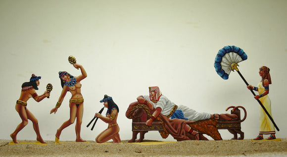 the Pharaoh at play (set AE-A) - Glorious Empires-Historical Miniatures