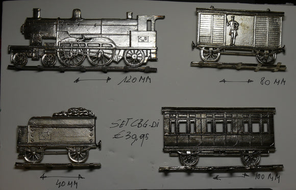 old train set, flat, engraved on both sides, about 25mm scale - Glorious Empires-Historical Miniatures