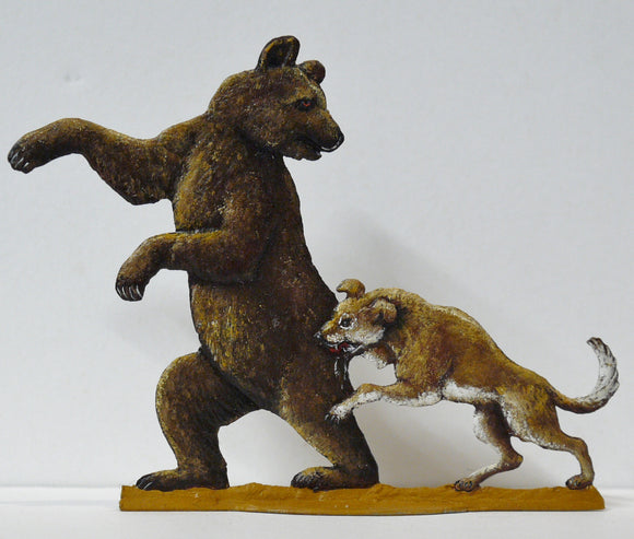 Bear attacked by Dog - Glorious Empires-Historical Miniatures