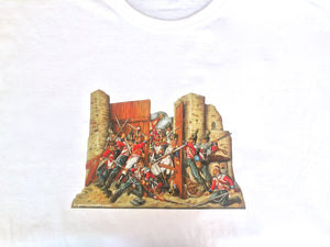 Hougomont Gate Waterloo T-Shirt - Glorious Empires-Historical Miniatures