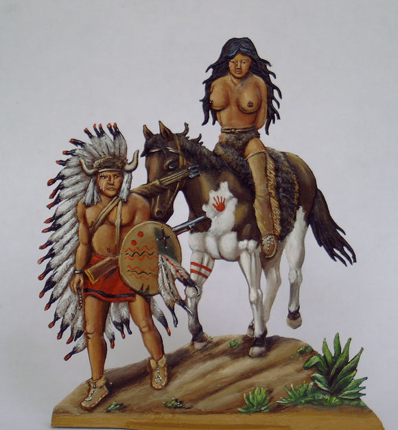 Indian Chief with loot - Glorious Empires-Historical Miniatures