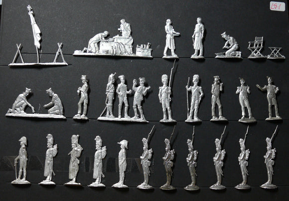 Mignot: figures from the Camp set - Glorious Empires-Historical Miniatures