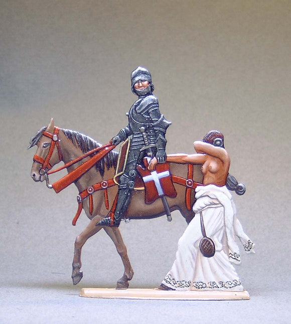 Swiss Knight with captured Burgundian Woman on foot - Glorious Empires-Historical Miniatures
