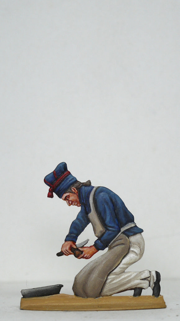 Cook peeling potato - Glorious Empires-Historical Miniatures