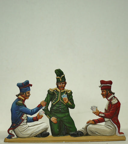 3 soldiers playing cards