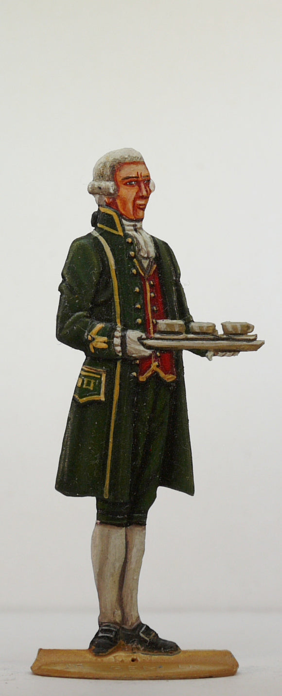 Valet with tray of coffee cups - Glorious Empires-Historical Miniatures