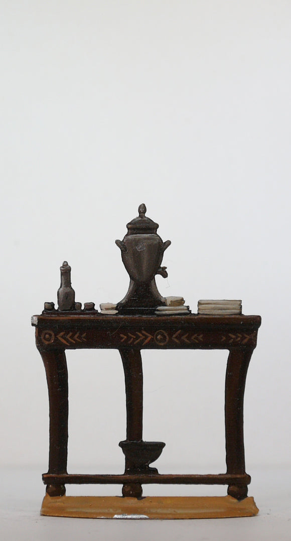 Table with coffee urn and cups - Glorious Empires-Historical Miniatures