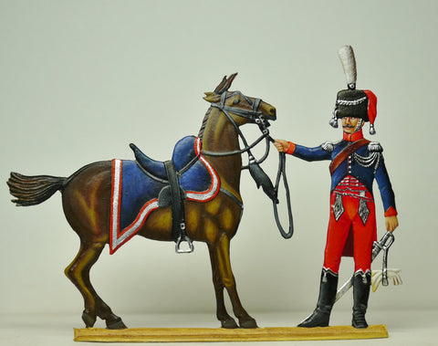 trooper of the Gardes de Poniatowski with Poniatowski's horse