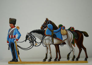 Guard Horse Artillery trumpeter with Berthiers horse - Glorious Empires-Historical Miniatures