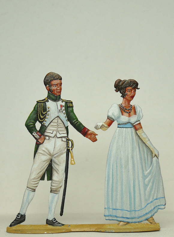 Couple dancing - Glorious Empires-Historical Miniatures