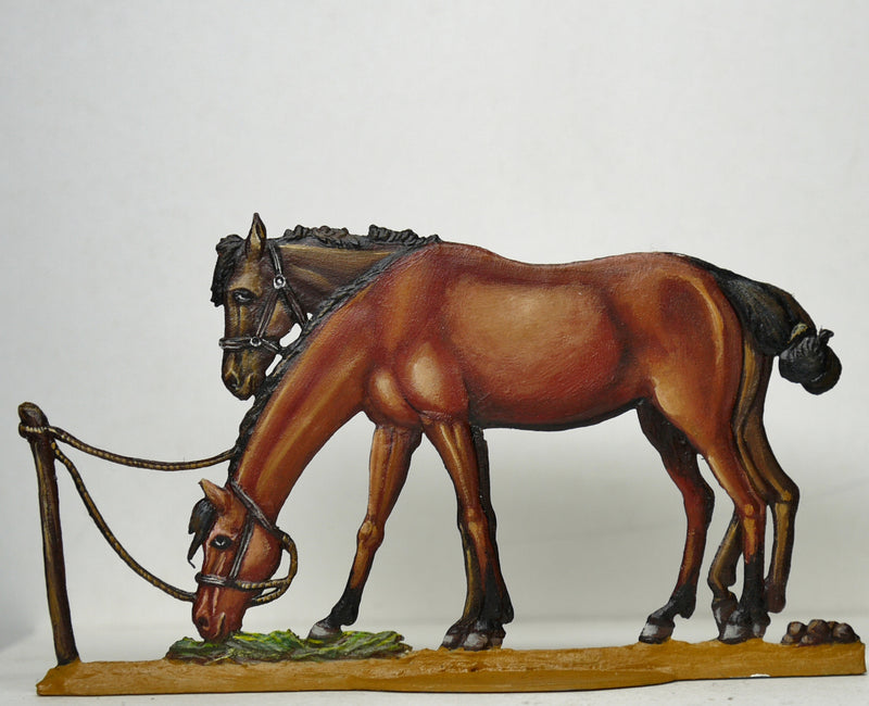 NF21/E two horses at ease - Glorious Empires-Historical Miniatures