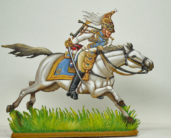 Empress Dragoon Trumpeter - Glorious Empires-Historical Miniatures