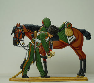 Chasseur checking horse's hoof - Glorious Empires-Historical Miniatures