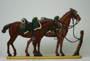two Chasseur horses - Glorious Empires-Historical Miniatures