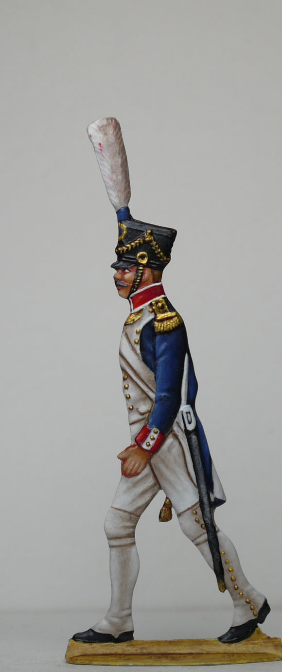 Voltigeur Officer (plume should be yellow over green) - Glorious Empires-Historical Miniatures