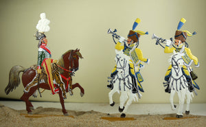 Murat king of Napels with trumpeters (set 19B-Toy) - Glorious Empires-Historical Miniatures