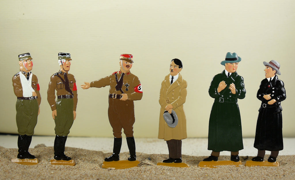 Hilter meets the Berlin thuggs. (set AHA-toy) - Glorious Empires-Historical Miniatures