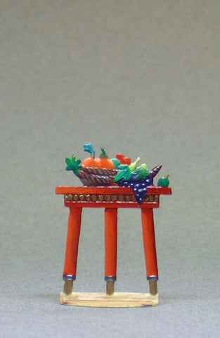 Tall Small Table with Fruit Bowl