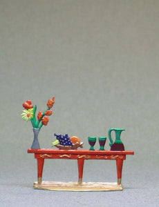 Small Table with Vase, Fruit Bowl, Carafe - Glorious Empires-Historical Miniatures