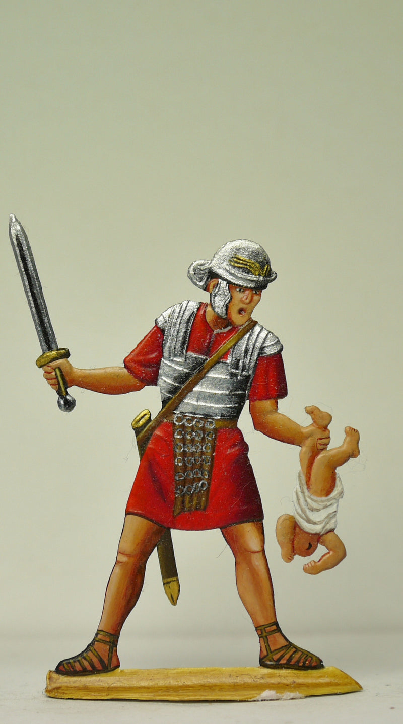 Roman Legionair with firstborn boy - Glorious Empires-Historical Miniatures