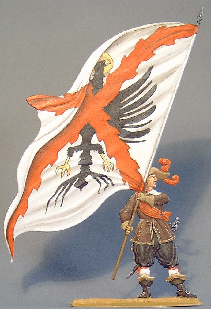 Standard bearer with Regimental flag. - Glorious Empires-Historical Miniatures