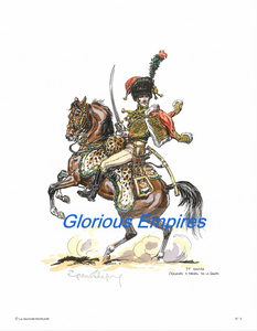 Print 6: 1er Empire Chasseurs A Cheval de la Garde - Glorious Empires-Historical Miniatures