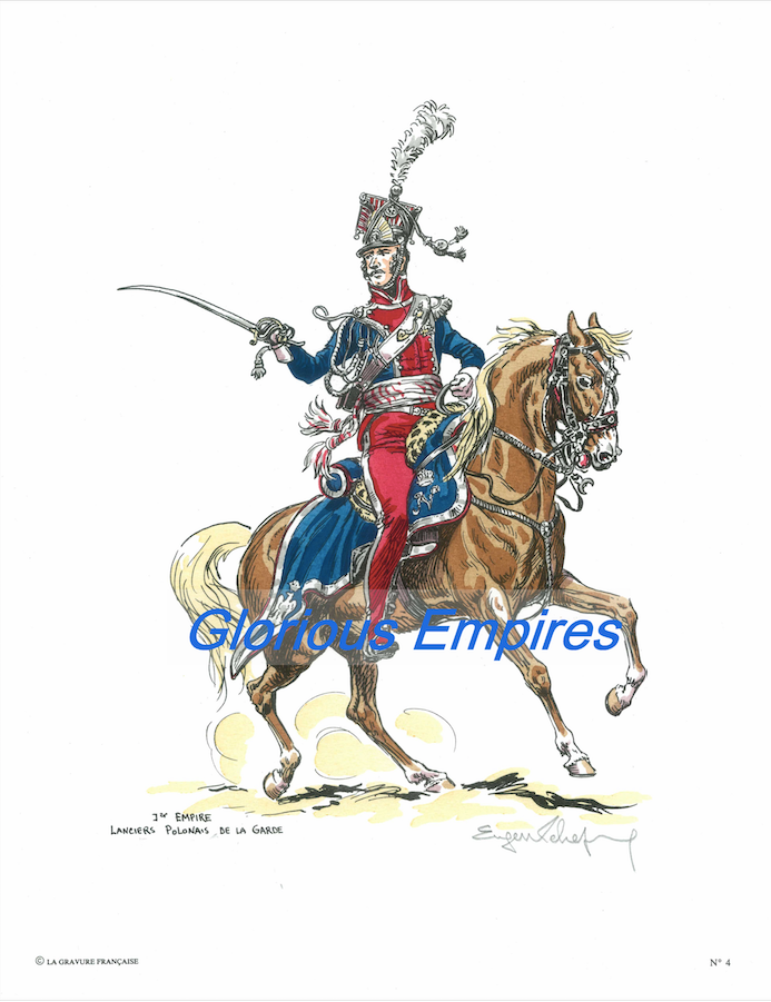 Print 4: 1e Empire Lancier Polonais de la Garde - Glorious Empires-Historical Miniatures