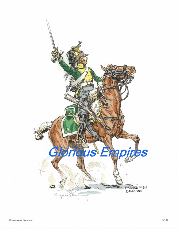 print 18 : French Dragoon - Glorious Empires-Historical Miniatures