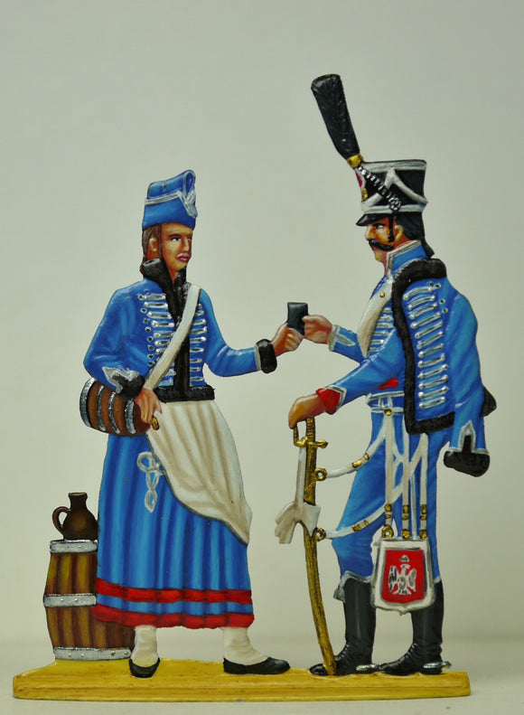 Cantiniere with Hussar - Glorious Empires-Historical Miniatures