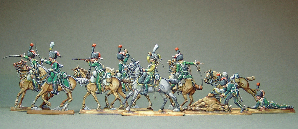AA - set 13 - Line chasseurs, fighting, full set