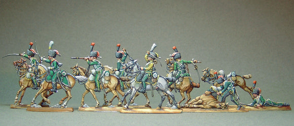 AA  - Line chasseurs, fighting (FULL set) - Glorious Empires-Historical Miniatures