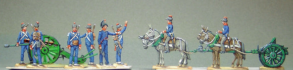 28.1 AA - French Artillery firing, full set - Glorious Empires-Historical Miniatures