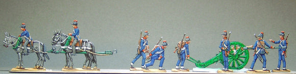 28.2 - French Artillery loading, full set - Glorious Empires-Historical Miniatures
