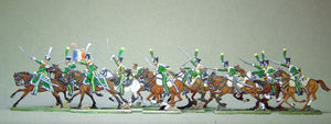 AA - Line chasseurs, charging, full set - Glorious Empires-Historical Miniatures