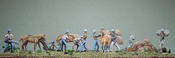 AA- French Cavalry, horse maintenance, full set - Glorious Empires-Historical Miniatures