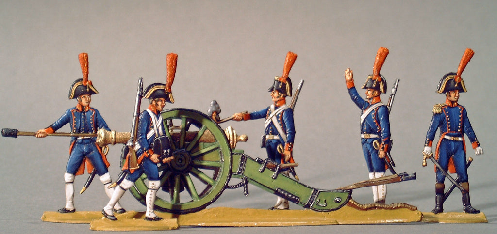 AA - Spanish Line Artillery, full set - Glorious Empires-Historical Miniatures