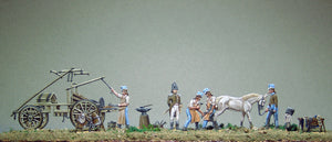 Shoeing an officers horse (FULL set) - Glorious Empires-Historical Miniatures