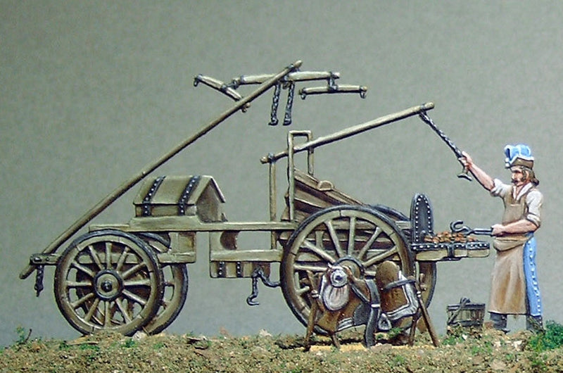 French field-forge with blacksmith  33.2/a - Glorious Empires-Historical Miniatures