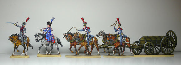 38. French Artillery train on the move - Glorious Empires-Historical Miniatures