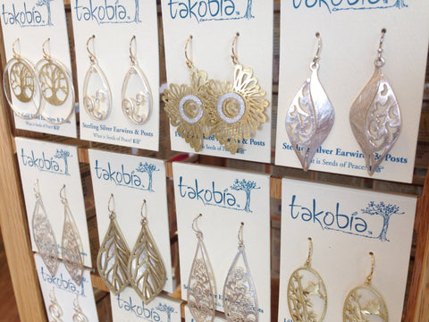 Takobia jewelry at Lauralee Gifts