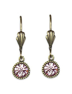 Anne Koplik Pink Crystal Earrings