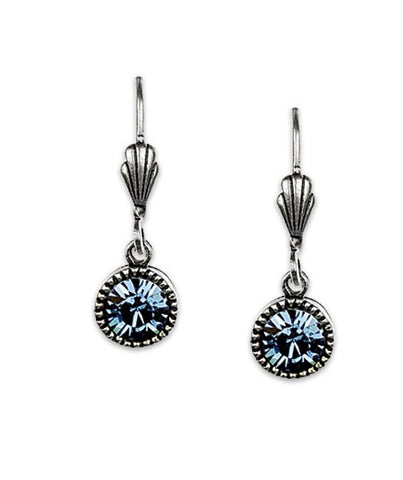 Anne Koplik Denim Crystal Earrings l Silver or Gold