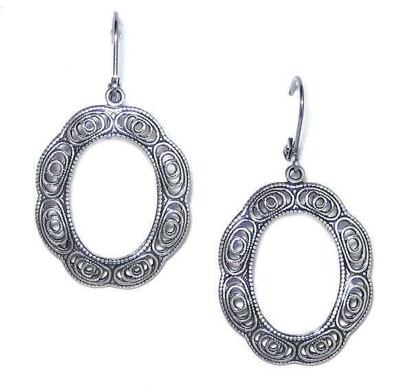 Clara Beau Filigree Hoop Earrings E812