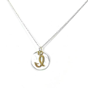 Kevin N Anna I Initial Necklace