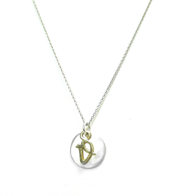 Kevin N Anna V Initial Necklace