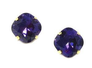 Clara Beau Purple Crystal Studs