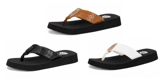 Yellow Box | FLAX Embossed Texture Flip Flops
