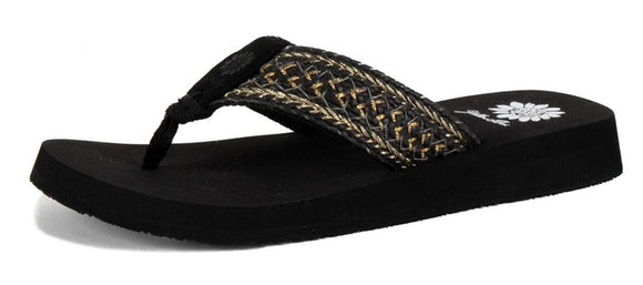 Yellow Box | FAUSTO Braided Strap with Metallic Accents EVA Flip Flops